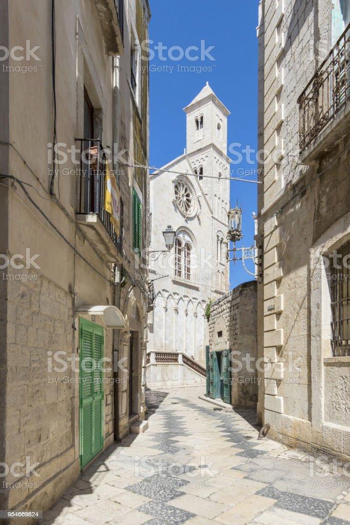 street in puglia Italy stock photo