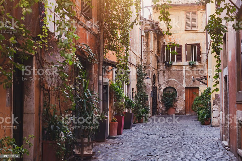 street in Rome, Europe stock photo