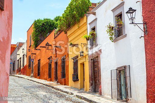 Calle en San Miguel de Allende, Guanajuato, México