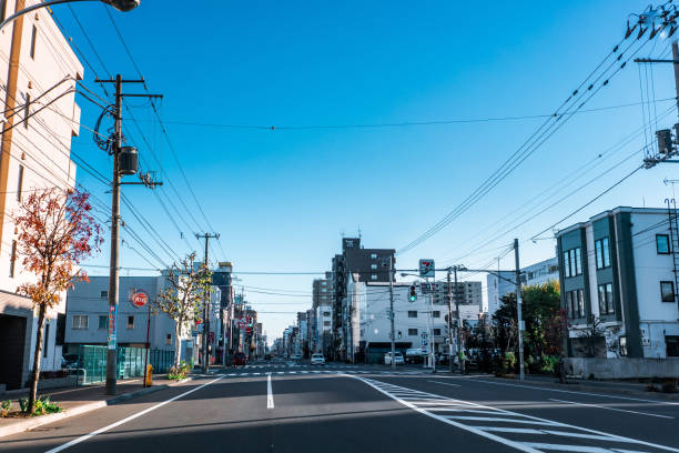 北海道札幌市の通り - 街 日本 ストックフォトと画像