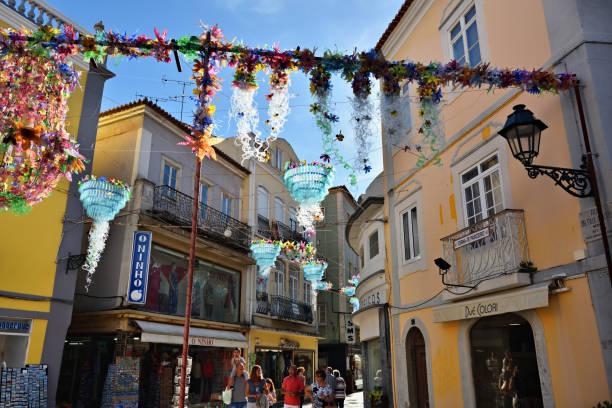 street in setubal, portugal - setubal imagens e fotografias de stock