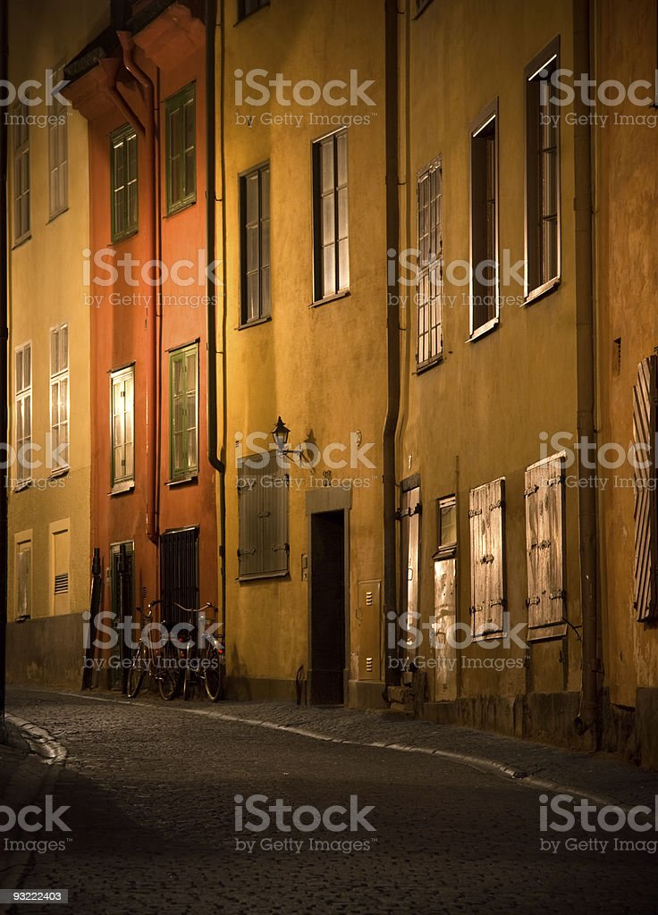 Street in Stockholm royalty-free stock photo