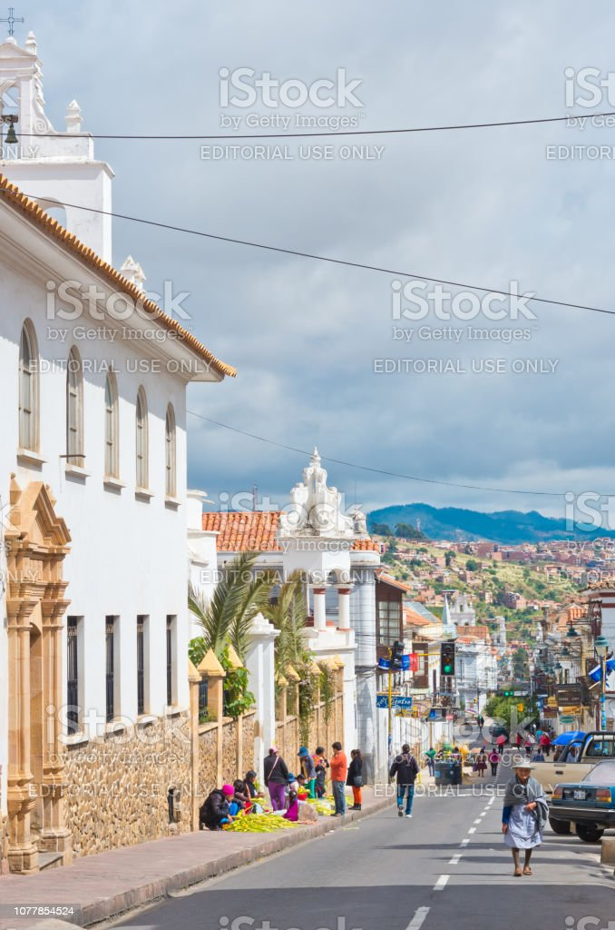 Street In Sucre Capital Of Bolivia Stock Photo Download Image Now Istock