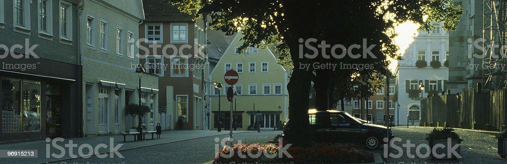 Street in sunrise royalty-free stock photo