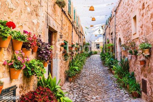 istock Street in the famous village Valldemossa on Majorca Spain 858979508
