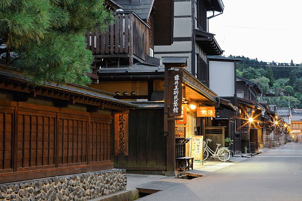 Straße in der Altstadt.   Takayama-Japan.   0001 – Foto