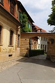 Street in the old town of Bamberg