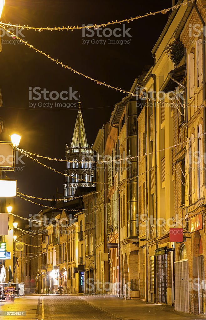 Street in Toulouse old city - France, Midi-Pyrenees stock photo