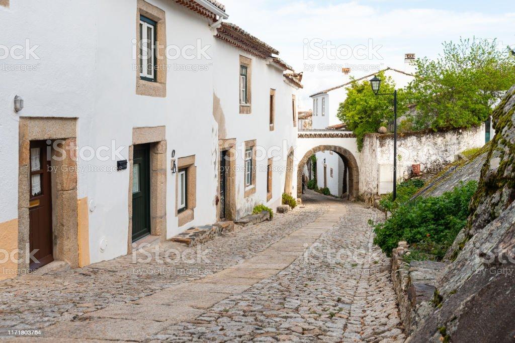 Street in traditional medieval village Marvao Portugal - Royalty-free Aldeia Foto de stock