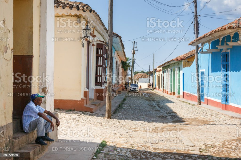Street in Trinidad royalty-free stock photo