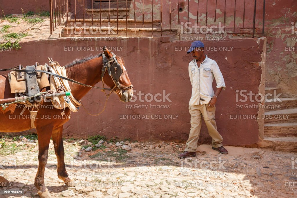 Street in Trinidad royalty-free stock photo