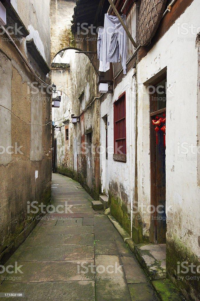 street in Tunxi old town stock photo