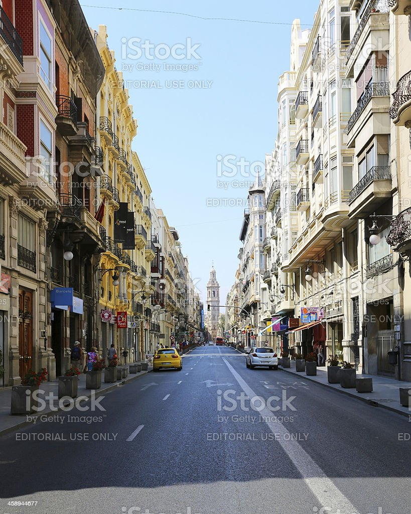 Street in Valencia stock photo