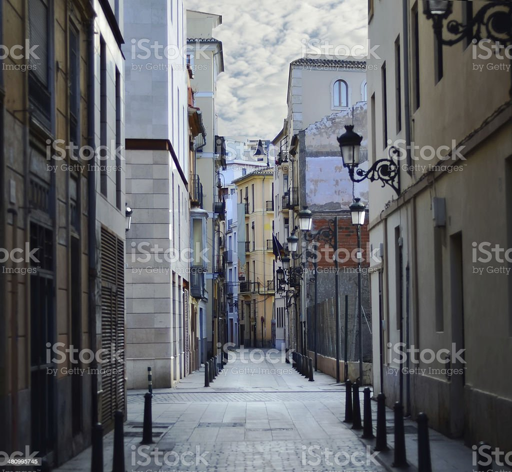 Street in Valencia, Spain stock photo