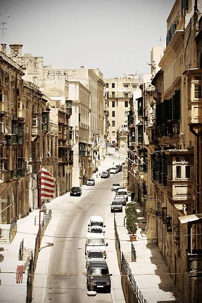Street in Valetta, Malta stock photo