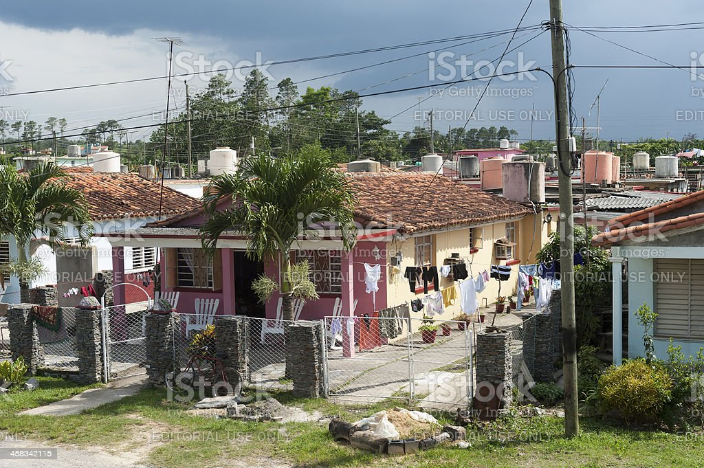 street in valle de vinales, Cuba royalty-free stock photo