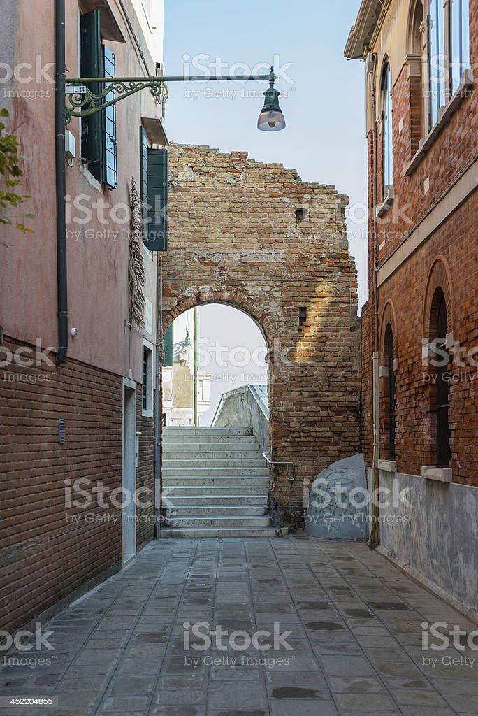 Street in Venice, Italy royalty-free stock photo