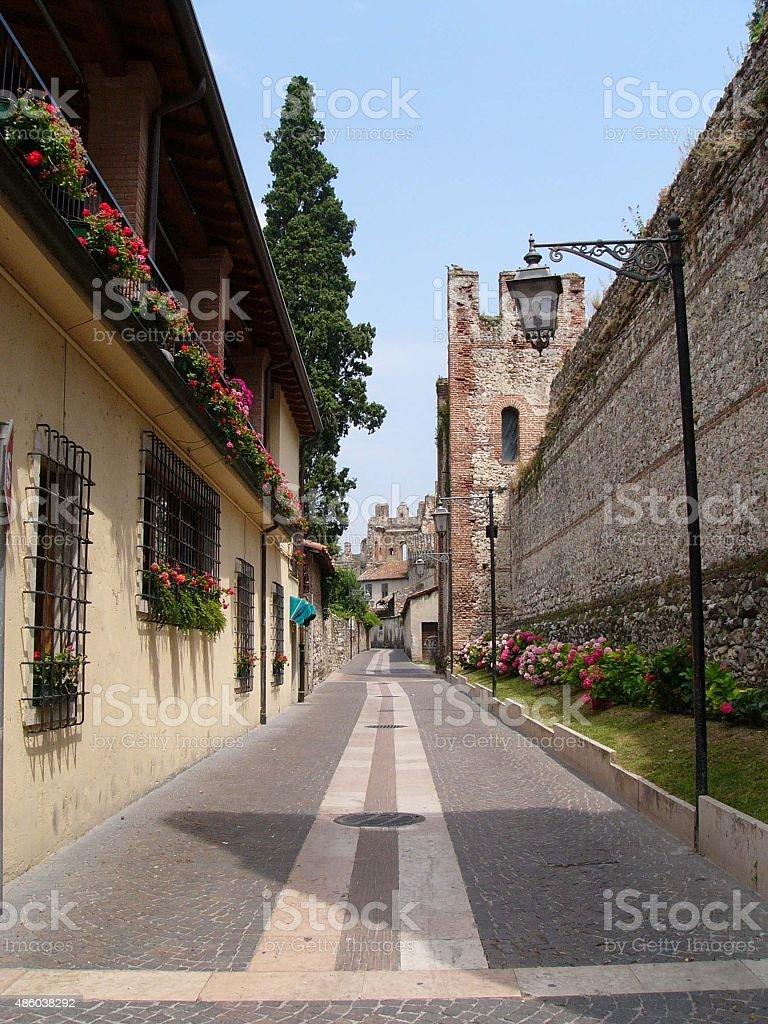 Street in Verona Italy stock photo
