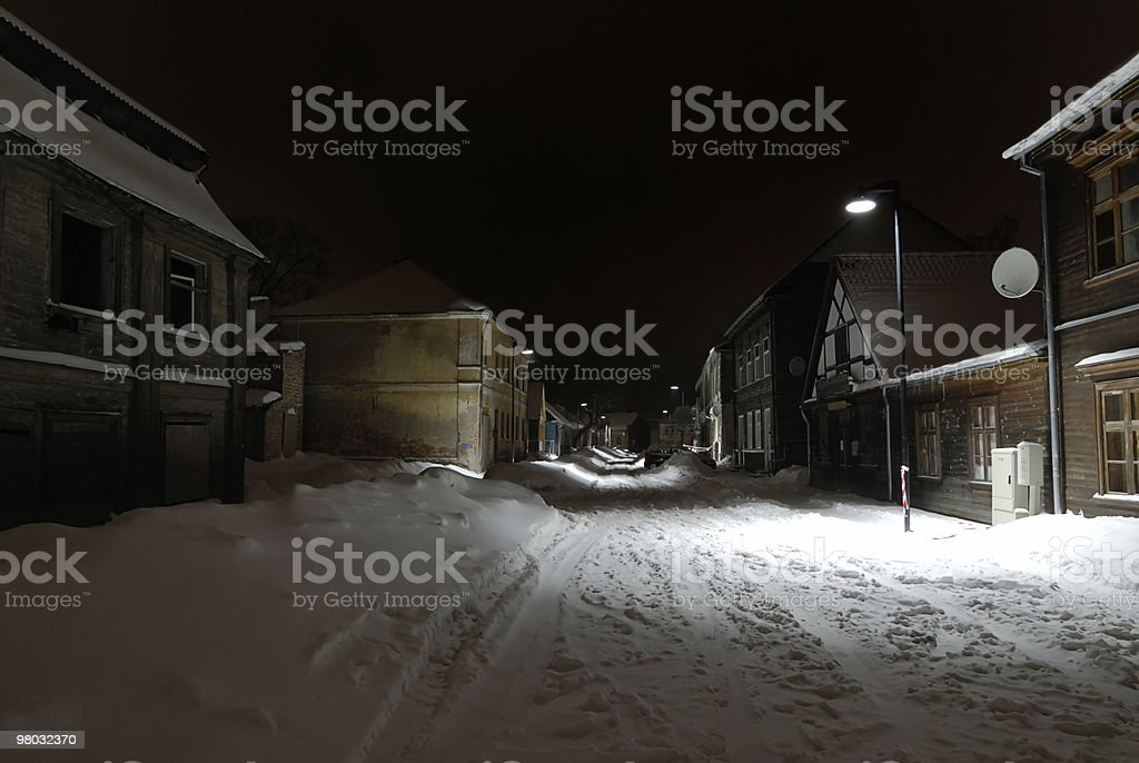 Strada in inverno foto stock royalty-free