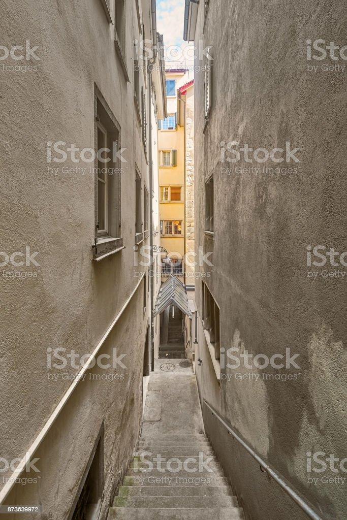 Street in Zurich stock photo