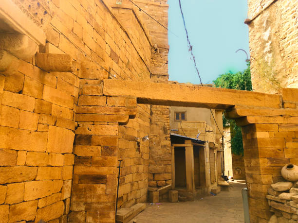 street inside the jaisalmer fort - gettyimages foto e immagini stock
