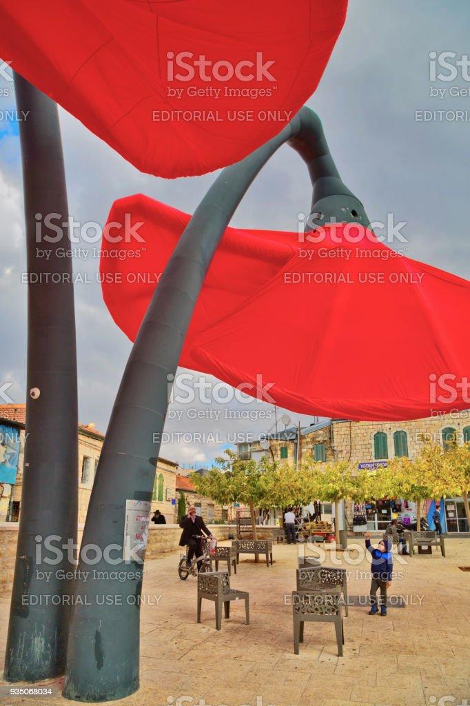 Photo Libre De Droit De Installation De Rue En Forme De Tulipes à