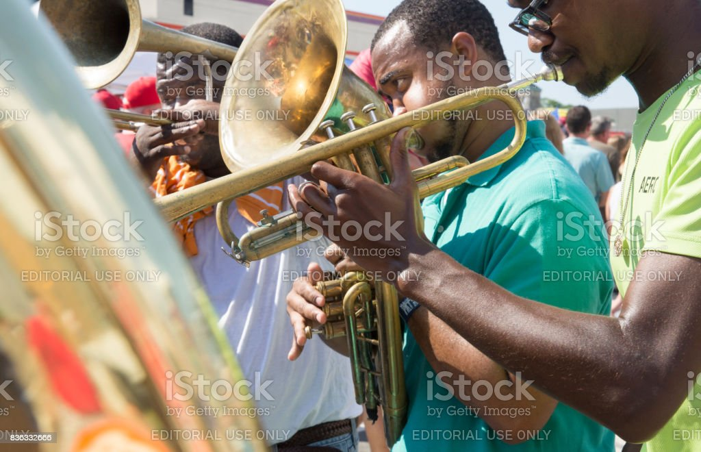 Street jazz stock photo