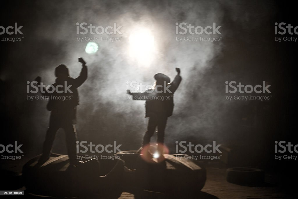 Street Kids Dancing stock photo