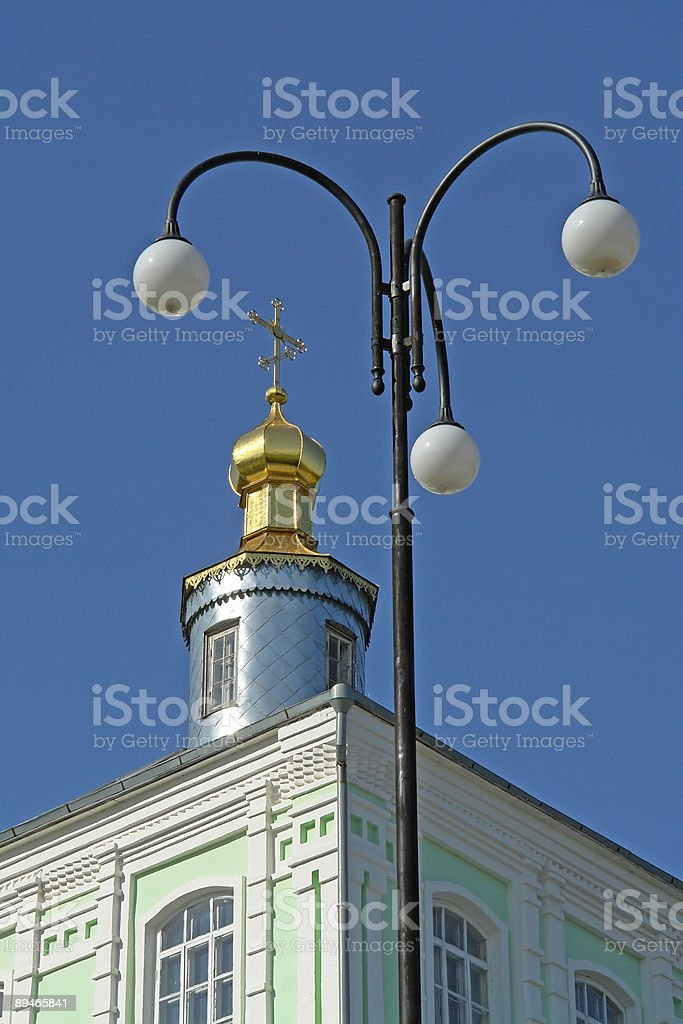 Street lamp and dome-shaped royalty-free stock photo