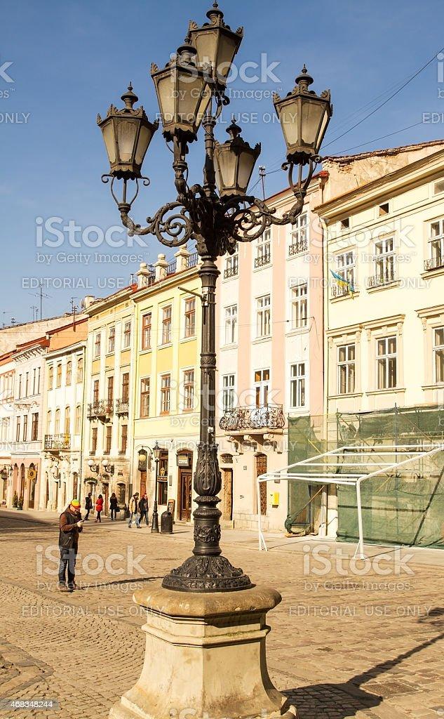 Street lamp in Lviv . royalty-free stock photo