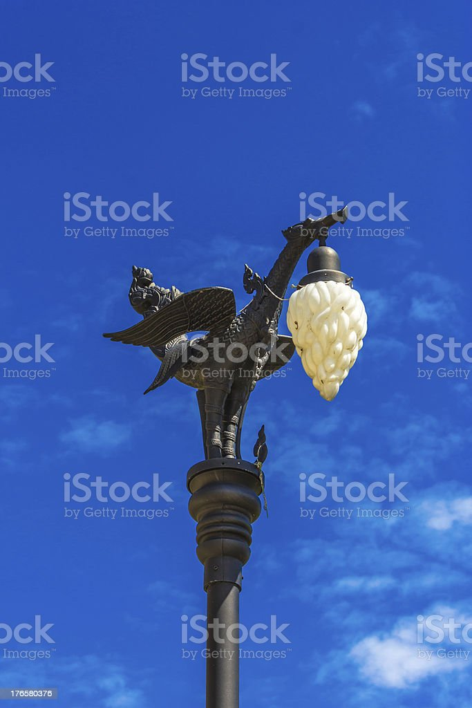 Street lamp in Thailand royalty-free stock photo