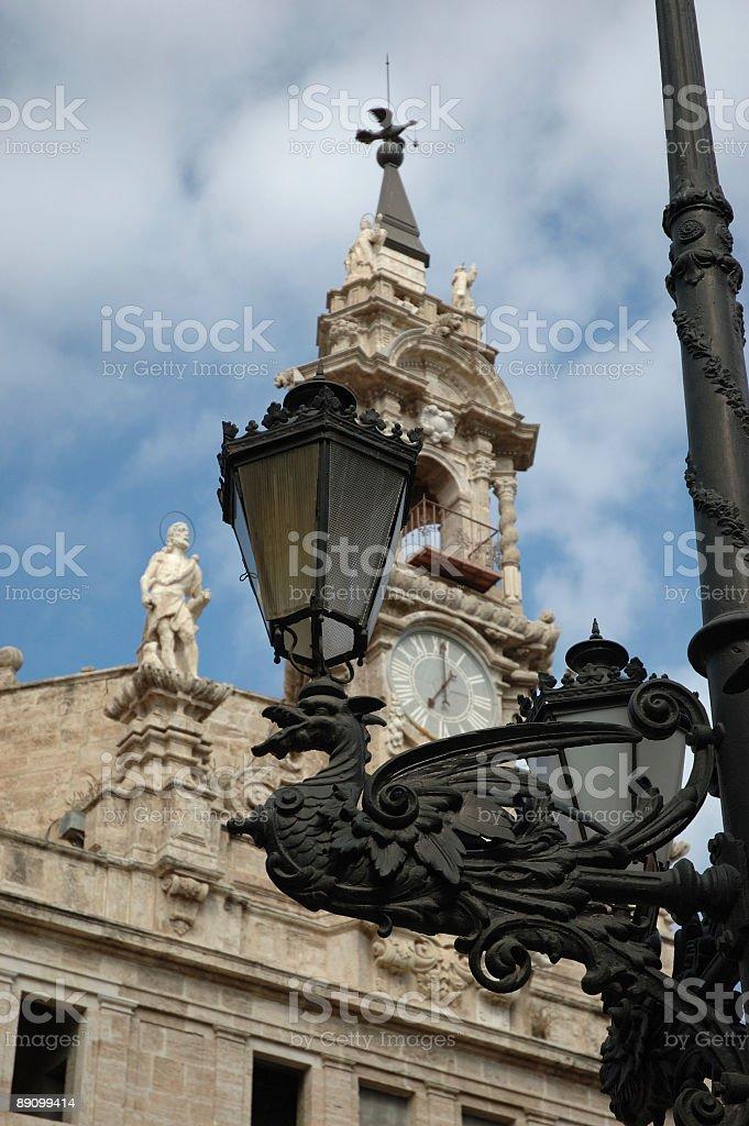 'Street lamp in Valencia' royalty-free stock photo