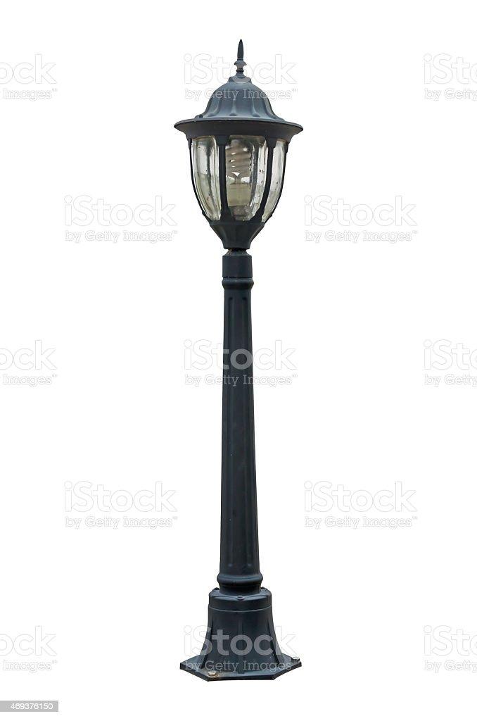 Street lamp isolated on white stock photo