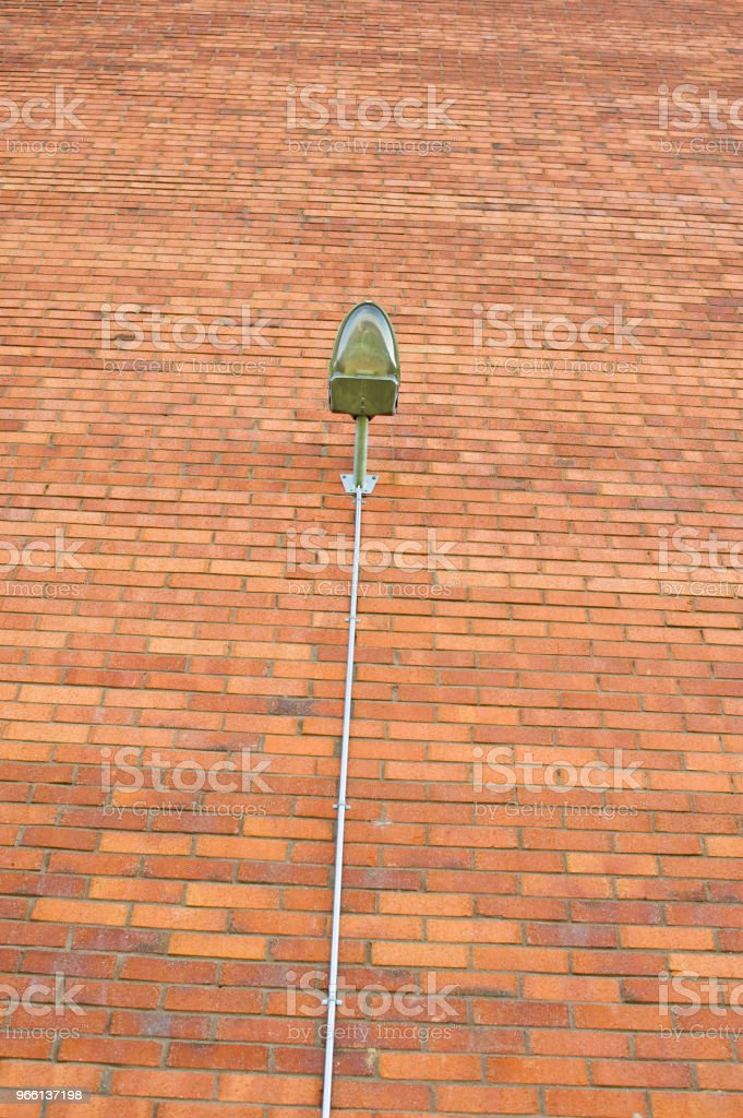 Street Lamp On Red Wall - Royalty-free Antiquities Stock Photo