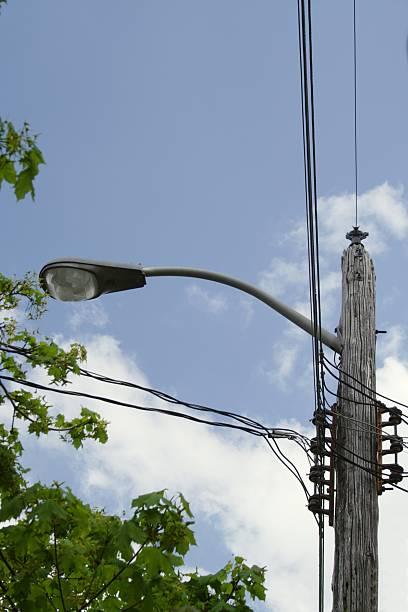 Street Lamp Through the Trees stock photo