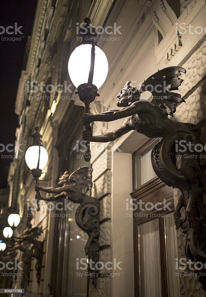 Street lamps in Budapest royalty-free stock photo