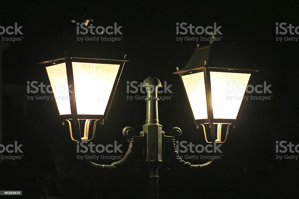 Street Lamps in the Night - Royalty-free Abstract Stock Photo