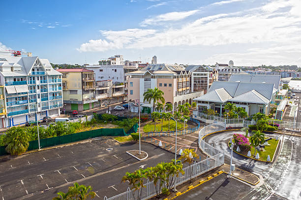 Street landscape of the city Pointe-a-Pitre, Guadeloupe