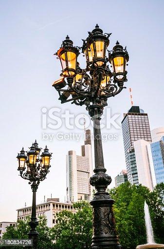 istock Street lanterns in Frankfurt am Main 180834726