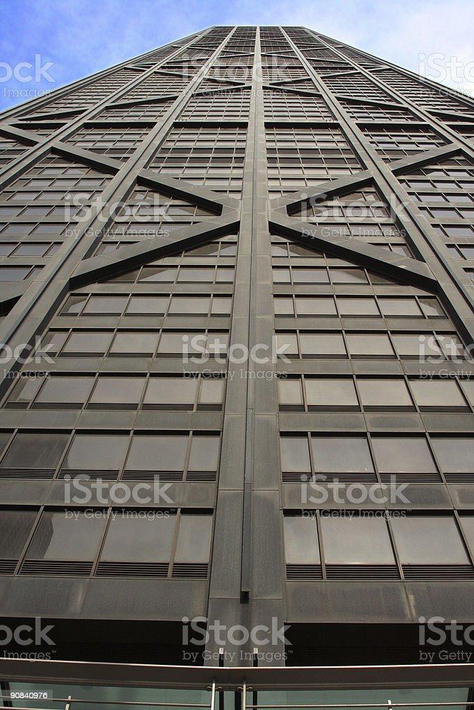 Street Level View of John Hancock Tower in Chicago, Illinois stock photo
