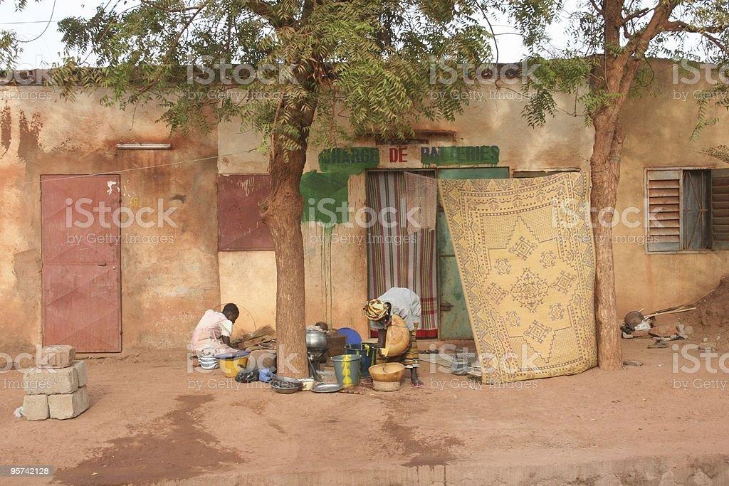 Street life africa stock photo