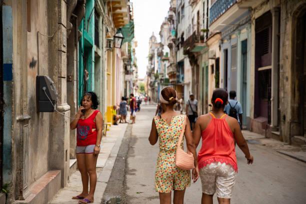 Street Life in Old Habana stock photo