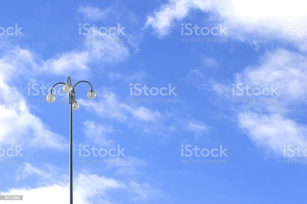 Street light against the bluest sky royalty-free stock photo