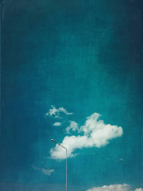 Street light and clouds