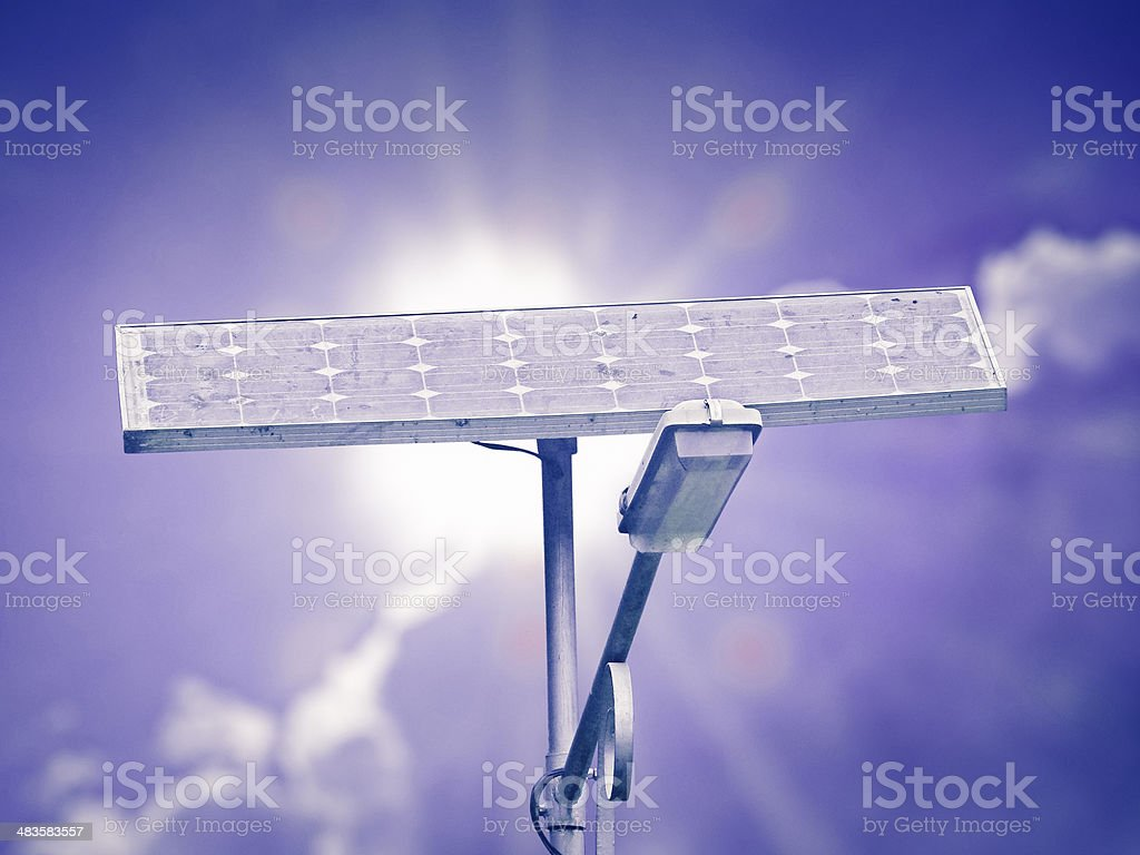 Street Light and solar pannel royalty-free stock photo