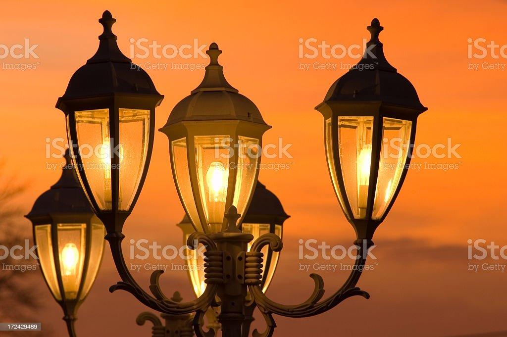 Street light at dusk #2 royalty-free stock photo