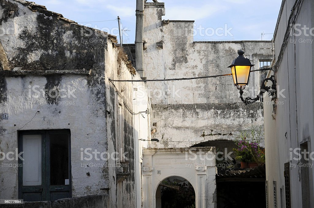 street light in a South Italian city royalty-free stock photo