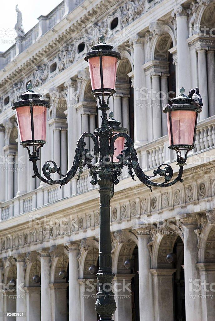 Street light in Venice royalty-free stock photo