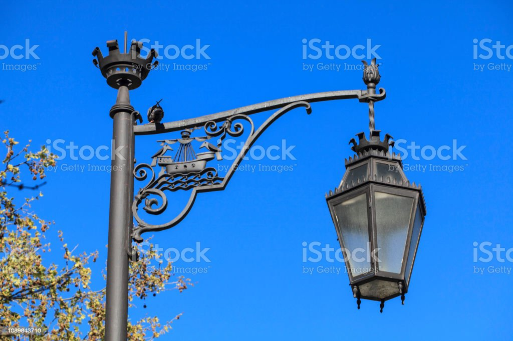Wrought iron street light