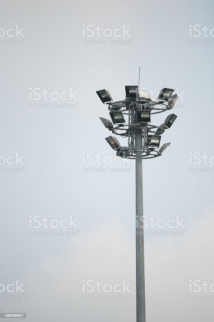 Spot-light towerstreet light pole